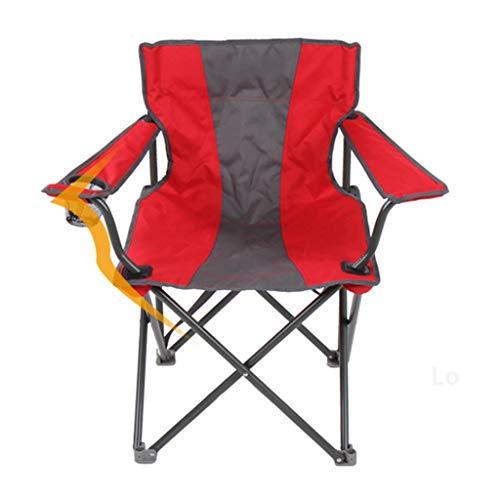 Silla De Camping Portátil Sillas De Pesca Plegables Sillón De Respaldo Alto Sillas De Playa De Ocio Al Aire Libre con Portavasos relaxdays sillas (Color : Rojo)
