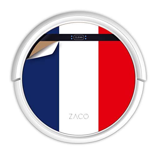 ZACO V5sPro Robot aspirapolvere e lavapavimenti con telecomando, 2in1 Aspira e lava senza fili con stazione, per pavimenti, parquet e tappeti, Aspiratore per peli di animali; bandiera francese