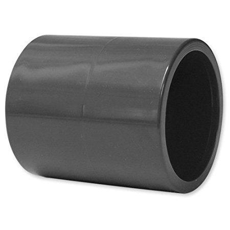 PVC Muffe 10 Stück, 50mm, 2X Klebemuffe (10)