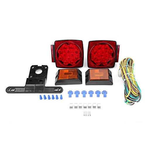 """Kit de Luces traseras para Remolque 12 V LED Sumergible Cuadrado Freno Barco Marino Menos de 80"""""""
