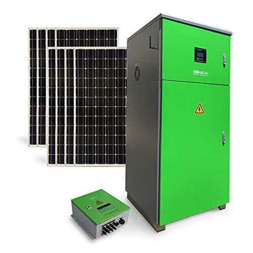 Complete 6KW off-grid solar power station 120V/240V split phase solar energy storage system