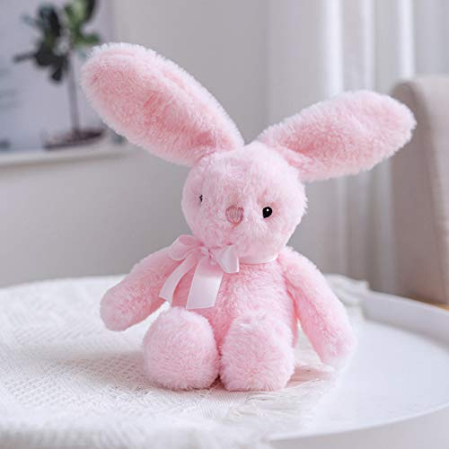 N / A 25cm Cute Bunny Plush Regular Animal Soft Doll Cartoon Baby Toy Party Birthday Kids Gifts Rabbit Sleeping Comfort Peluche 25CM