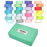 YUKUNTANG Washi Masking Tape Set, Decorative Writable Washi Craft Tape Set 28 Rolls for DIY Crafts...