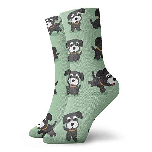 Kevin-Shop Kompressionsstrümpfe Black Norfolk Terrier Hund High Ankle Cotton Socken Frauen Männer Lightweight