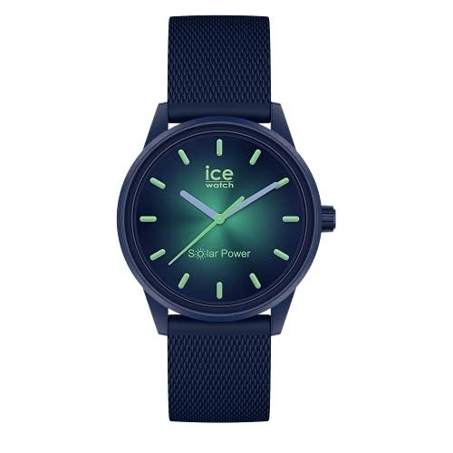 ICE-WATCH - Ice Solar Power Borealis Reloj con Correa de Silicona, Azul para Mujer, Small, 019033