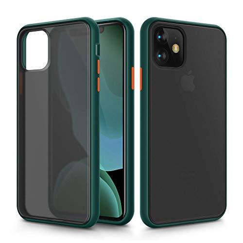 Arktis Sector Slim kompatibel mit iPhone 11 [kabelloses Laden] Schützhülle Handyhülle Hardcase Case - Dark Green