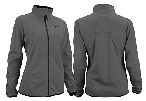 Avento softshell jas dames getailleerd (42||grijs zwart)