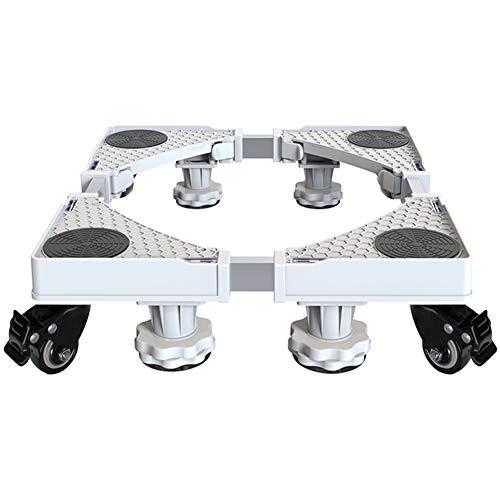 Waschmaschine Sockel,Multifunktionaler Beweglicher Verstellbare Stand Einstellbar Wachmaschinen-Untergestell KüHlschrank Sockel Untergestell Trockner Waschmaschine Und KüHlschrank(4Wheels4Legs)