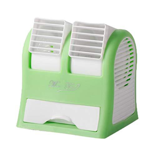 Fenteer 1 Paquete De Espacio Personal Portátil Mini Ventilador Aire Acondicionado Humidificador Frío - Verde