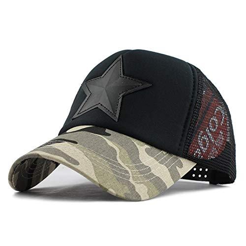 SZJXZ Baseballmütze Camouflage Mesh Baseball Cap Swag Snapback Desert Camo Hat Für Männer Cap Hiphop Cap Frauen Tarnlicht