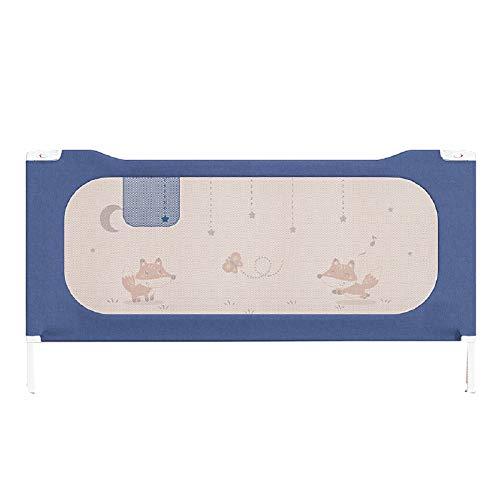 AELEGASN Barandilla De La Cama Guardia De Seguridad para Niños, Portátil Barrera De Cama para Bebé Protección contra Caídas, Barandilla Cama(180X76cm 1Pcs),Azul,180CM