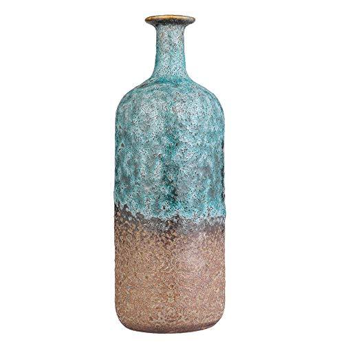 Jarrón de cerámica Vintage para decoración, jarrones Altos para Decorar el Suelo de la Sala de Estar, jarrones de Suelo...