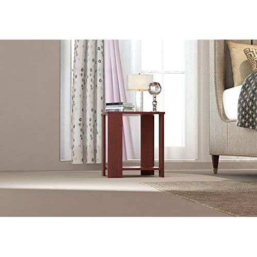Forzza Bentley Side Table with Storage (Mahogany)