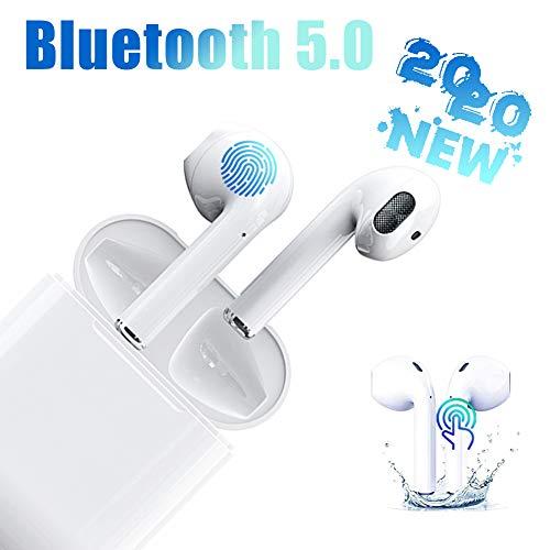 i12 Auriculares Bluetooth 5.0 Toque Inteligente Auriculares Bluetooth Inalámbrico 24H Tiempo De Juego Audio Stereo 3D in Ear con Mic,IPX5 Resistentes al Agua para Apple Airpods/Android/iPhone/Samsung