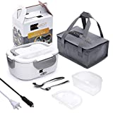 Electric Lunch Box Food Heater - FORABEST 2-In-1 Portable Food Warmer Lunch Box for Car & Home – Leak proof, 2...