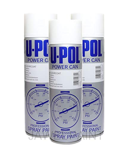 U-POL Car Paint Power Can Clear Lacquer 3 x 500 ml Aerosols Spray Cans