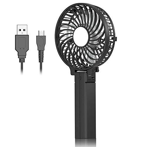 DAI QI Mini Ventilador de mano, escritorio del USB del ventilador, ventilador de mesa portátil de pequeño tamaño personal con USB recargable batería Operado de enfriamiento plegable del ventilador elé