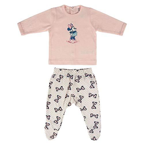 Cerdá Conjunto Ropa Disney Bebe de Minnie Mouse Juego de Pijama, Rosa, 0 Meses para Bebés