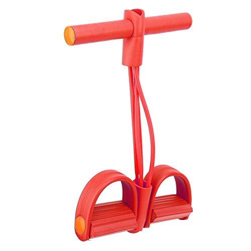 Vcriczk Fascia di Resistenza ai Pedali, attrezzo Ginnico per Gambe per Allenatore Elasticizzato, Cintura di Resistenza Addominale per Lo Yoga(Look Around in Red OPP Bags)