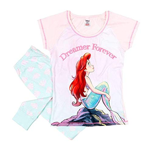 Disney Las Mujeres Sirenita soñador Siempre Conjunto de Pijama: Pequeño (8-10)