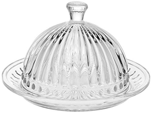 Queijeira De Cristal C/tampa Empire 20cm Lyor Transparente No Voltagev