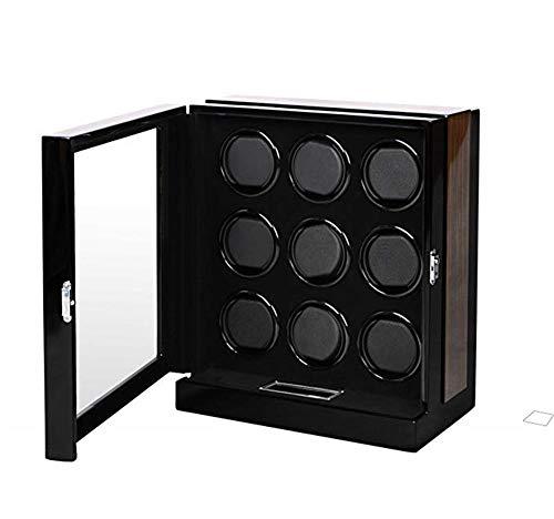 V.JUST Caja De Madera Automática De Winder del Reloj con Diseño Antigravedad De La Pantalla LCD Táctil,9