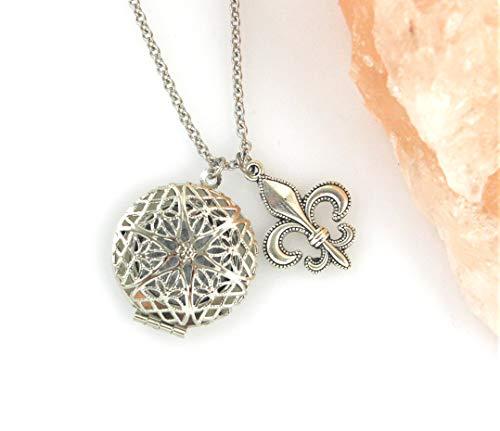 Jewelry diffuser of essential oils Mandala Fleur