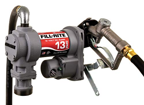 Standard Duty SD1202H 12V 13 GPM Fuel Transfer Pump (Manual Nozzle, Discharge Hose, Suction Pipe)