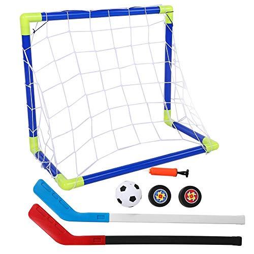DEWIN 2 in 1 Kinder Fußball Eishockey Ziel Ziel Kit mit Bällen Pump Kid Trainingsspielzeug für Outdoor-Sporttraining Interaktionsspielzubehör