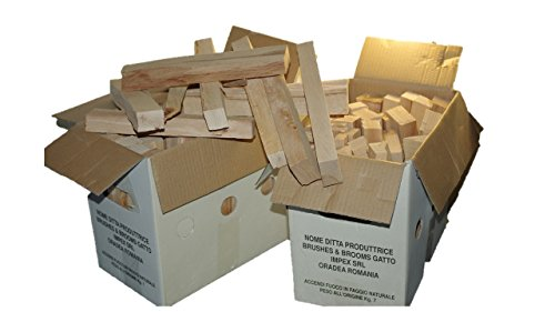 Madera de haya natural para BARBACOAS y otros usos en envase