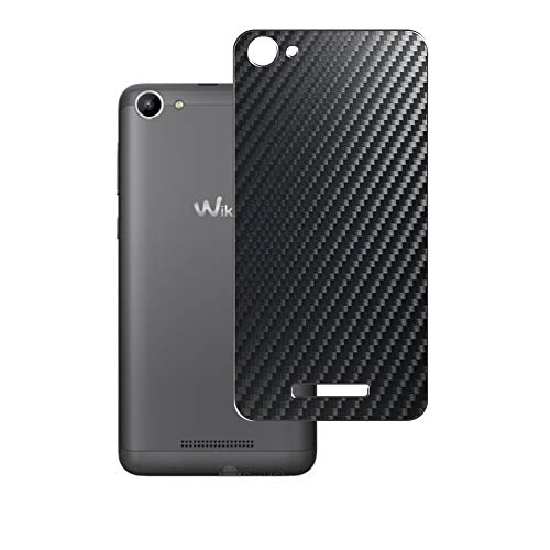 Vaxson 2 Unidades Protector de pantalla Posterior, compatible con Wiko Lenny3 Max 2016 / Lenny 3 Max, Película Protectora Espalda Skin Cover - Fibra de Carbono Negro