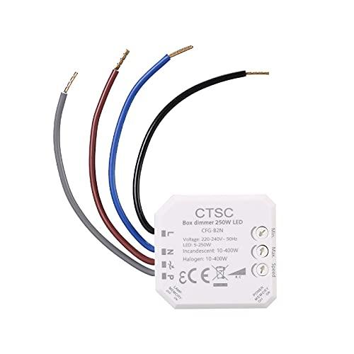 CTSC trailing edge dimmer, adecuado para LED regulables(5-250W), lámpara incandescente halógena(10-400W)