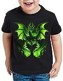 style3 El Hada Oscura Camiseta para Niños T-Shirt maléfica la Bella Durmiente, Talla:128