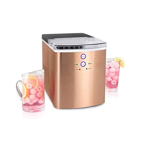 Máquina para hacer hielo cubitos hielo 105 W, fabricadora hielo acero inoxidable, máquina hielo comercial autolimpiante eléctrica portátil, 10 cubitos hielo listos 6-8 minutos, 30 kg / 24 horas, para