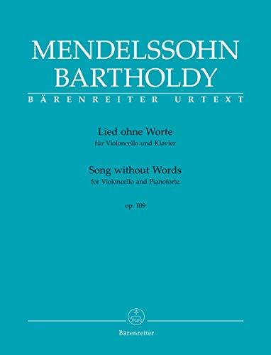 Lied ohne Worte für Violoncello und Klavier op. 109. Spielpartitur, Stimme, Urtextausgabe. BÄRENREITER URTEXT