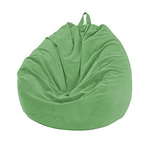Lazy Sofa-Abdeckung Keine Polsterung Weiche Removable Corduroy Lehnstuhl Sitzsitzsack Kissen Hocker Tatami Wohnzimmer (Color : Green)