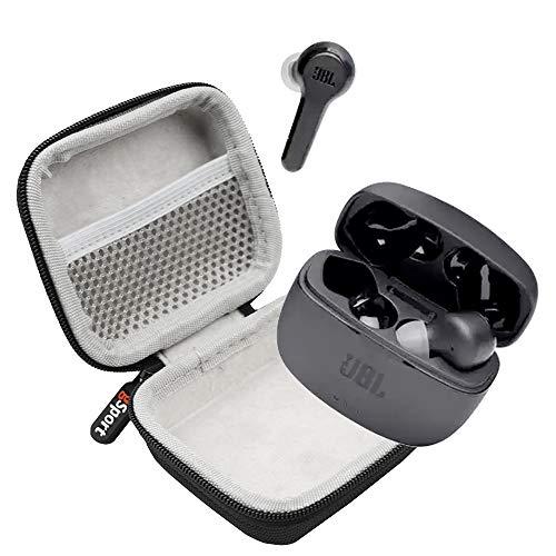 JBL Tune 215TWS True Wireless in-Ear Headphones Bundle with gSport Deluxe Hardshell Case (Black)
