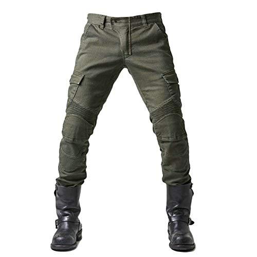 WWSUNNY Herren Slim Fit Motorrad Jeans Mit Protektoren Knie und Hüftprotektoren Stretch Slim Fit Denim Motorradhose Anti-Fall Straight Fit Cargo Motorradjeans Schutzhose