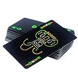Profi Plastik Pokerkarten Schwarzes Kartendeck Nachtglanztinte Pokerkarten, originelles Kartenspiel Standardgröße Kartensatz für Party Bar KTV -