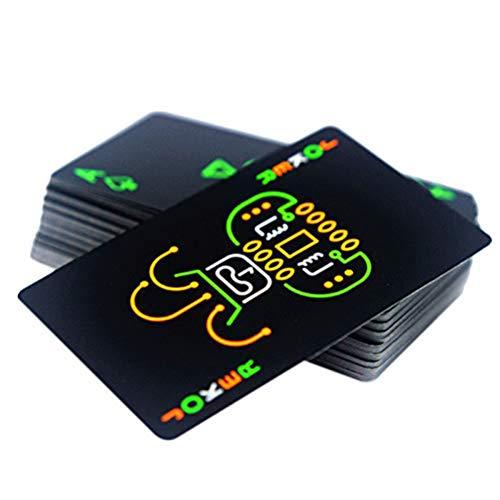 Cartas de póker de plástico Profesional Baraja de Cartas Negra Cartas de...