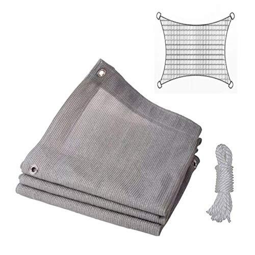 æ— Toldo rectangular de 2 x 2 m con cuerdas de 6 m, tejido de polietileno de alta densidad engrosado, toldo para jardín al aire libre y patio