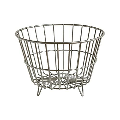 Cesta multifuncional de hierro, cesta de frutas, cesta de almacenamiento, cesta de soldies, azul verdura, cesta de pan, cesta de bocadillos, escritorio, cocina, cesta de almacenamiento de sala de esta
