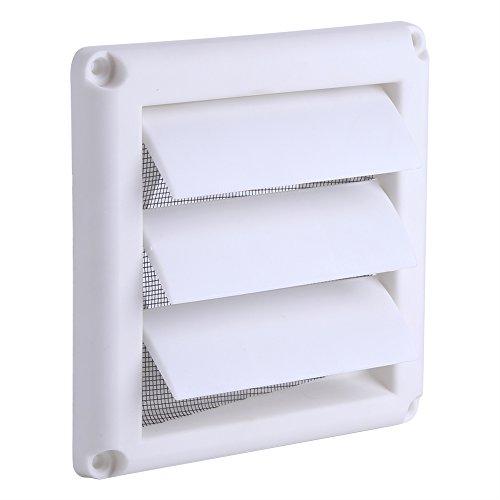 Cubierta de rejilla de ventilación de plástico para secador, 3 solapas, rejilla de ventilación de conducto de pared, cubierta de ventilación con rejilla de ventilación 15 x 15 cm