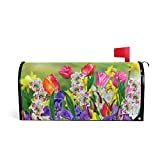 WOOR Spring Summer Flowers Daffodils and Tulips Magnetic Mailbox Cover Oversized Garden Yard Home Decor for Outdoor-20.8'x 25.5'
