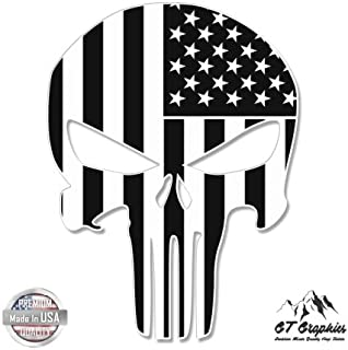 Punisher Skull Subdued American Flag Tactical - Vinyl Sticker Waterproof Decal