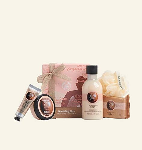 The Body Shop Nutty Nourishing Shea Pampering Essentials Body Butter Soap hand cream shower gel Gift SET