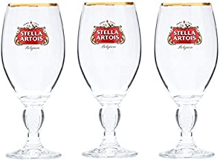 Stella Artois Beer Glass Challice 33cl (Pack of 3)