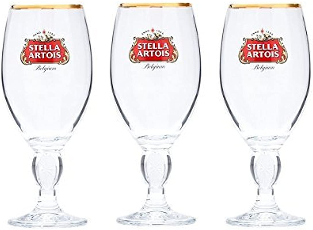 Stella Artois Beer Glass Challice 33cl Pack Of 3