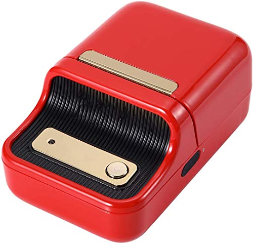 Label Printer, Portable Wireless BT Thermal Label Maker Sticker Printer with RFID Recognition Great for Supermarket Clothing Jewelry Retail Store,Red