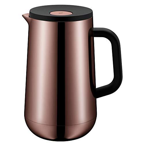 WMF Impulse Thermoskanne 1l, Isolierkanne für Tee oder Kaffee, Druckverschluss, hält Getränke 24h kalt & warm, vintage kupfer